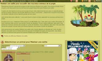 Tropicstory - Acheter un animal aux encheres et autres interactions